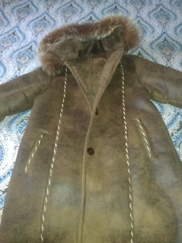 дубленка кожа в Кыргызстан: Дубленка из телячьей кожи мех. Очень теплая. Размер 2XL