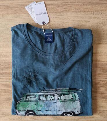 Bermude-sive-za-hladdane-sa-kaisem - Srbija: SPRINGFIELD majica sa printom, sive boje, veličina XL - NOVO   SPRINGF