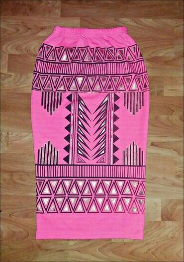 Ženska odeća | Senta: Boohoo aztec print cigaret suknja. Velicina:M