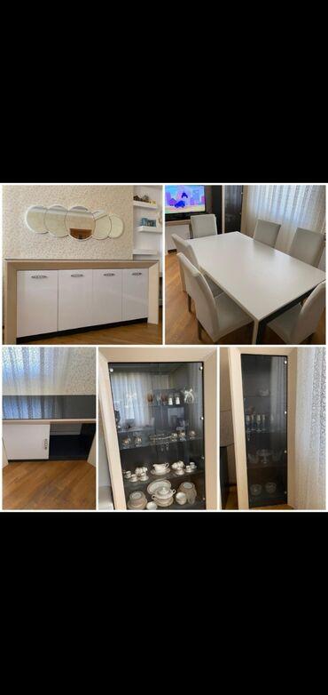 Vira mobilya Topkapi desti 950 azn.qorka,bar,kamod,tv altı,stol 6