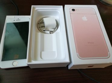 Bakı şəhərində Iphone 7 128 gb rose gold satilir. balaca nokte kimi ciziq var,onuda