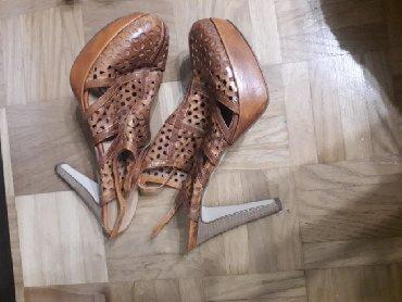 Braon-kozne-sandale-broj-pitajte - Srbija: Zenske kozne sandale broj 41