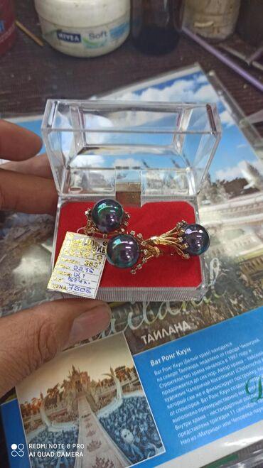 цена за грамм золота в бишкеке в Кыргызстан: Комплект золота 585, бриллиантами, размер-18
