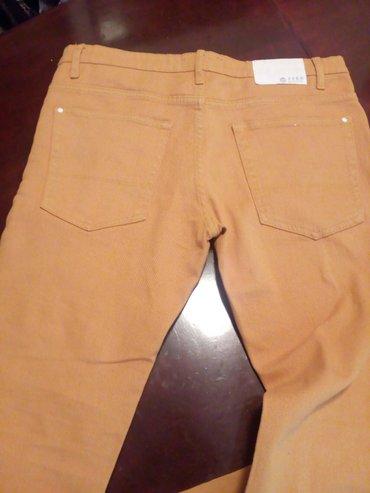 Fsbn muške jeans pantalone u žutoj boji. Samo probane, praktično - Belgrade