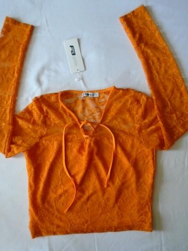 Prelepa nova sa etiketom,  Fishbone bluzica sa rukavima od čipke, - Belgrade