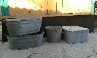 51 объявлений: Баки оцинкованныеквадратный-1200скруглый-400с ванна-600с