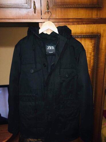 Mantil zimski - Srbija: Muska zimska jakna, kupljena u Zari, nekoriscena, na prodaju