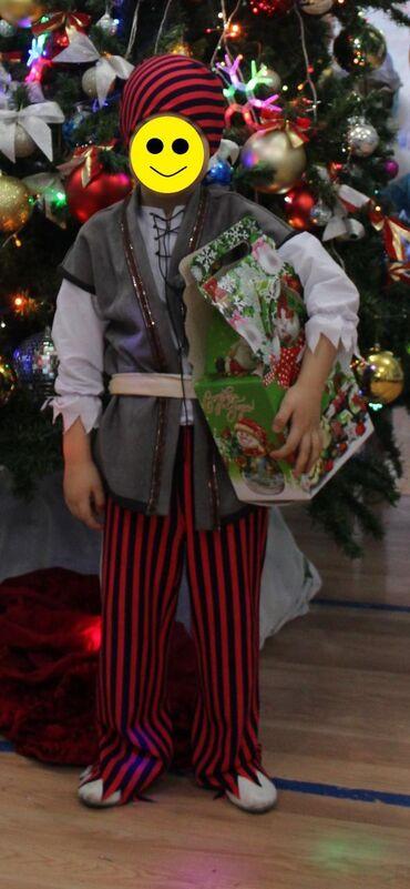 Разбойник. Новогодний костюм. 5-7 лет. В комплекте рубашка, штаны, бан