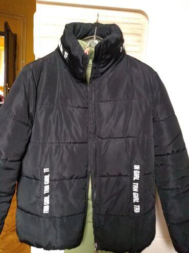 Sako crne boje - Srbija: Terranova jakna za devojčice,crna kao nova sa kapuljačom u kragnina