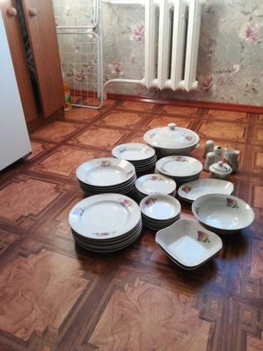 фарфоровый сервис в Кыргызстан: Сервис столовый6 персон, супница,соль перец