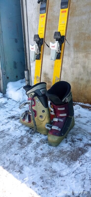 продажа инвалидных колясок в Кыргызстан: Продам комплект б/у : лыжи atomic, ботинки nordica, палочки. Размер