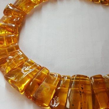 Плоские лечебные янтарные колье в Ош