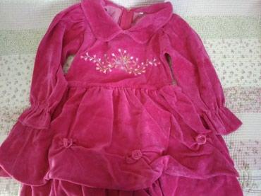 Платье велюровое на 3-5 лет. в Бишкек