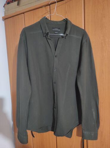 Muska majca l - Srbija: Na prodaju Zara, odlicno ocuvana muska kosulja . Velicina L, materijal