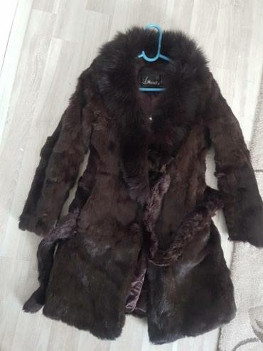 Шуба состояние отличное, размер 42-44,кролик,5000 в Novopokrovka