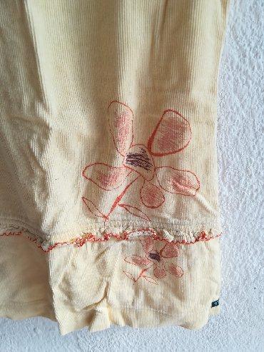 Primanella somotska haljinica - Srbija: Žuta kvalitetna haljina somot vel 2, nošena ali očuvana, obim ispod