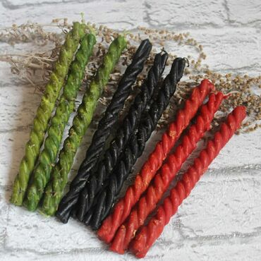 Восковые свечи с травами - это натуральный продукт, чудесный природный
