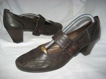 Kozne cipeleCipele broj 41, unutrašnje gazište 26,5cm.Stikla 6,5cm