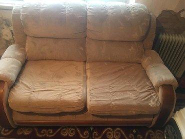 раскладной диван с двумя креслами в Кыргызстан: Продам диван с двумя креслами, б/у самовывоз