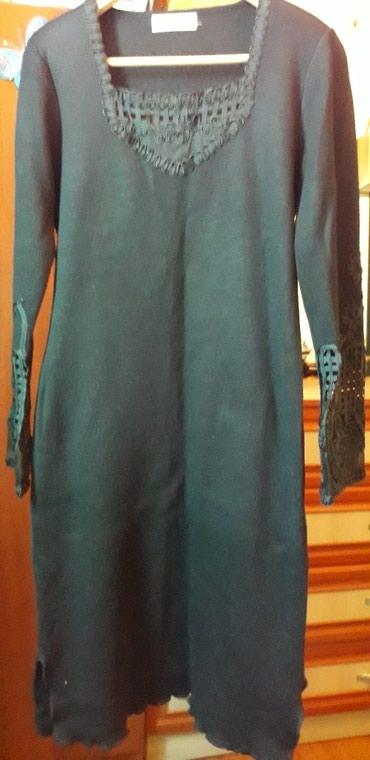 трикотажную кофту в Кыргызстан: Плотное трикотажное платье, чуть ниже колен,с плечиками.одет один