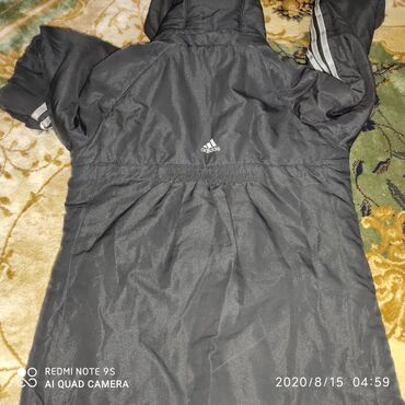 Куртка Деми на мальчикаAdidas оригинал на 10-11лет б/у Синие куртка с