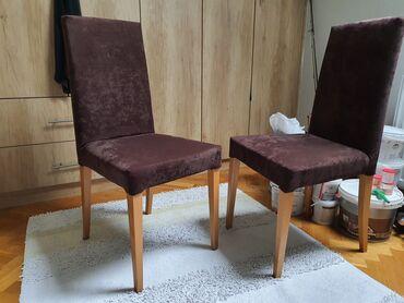 Nameštaj - Pancevo: Stolice -4 KomadaOdlicno stanje,bez vidljivih ostecenja, noge i
