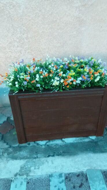 Продаю искуственные цветы в готовом виде с горшками размер 1м длина