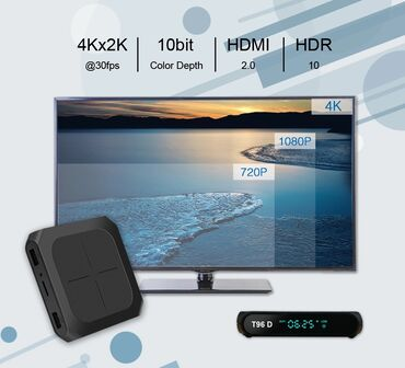 smart tv box - Azərbaycan: Android smart tv box Model Original T96 Android smart tv box 2/16gb 4K