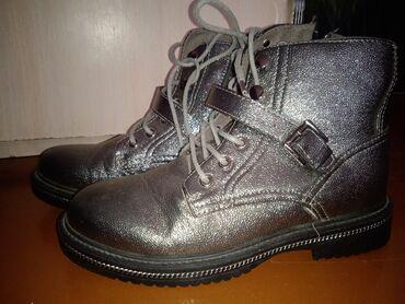 Теплые женские ботинки серого цвета. (Новые, остатки товара) 40