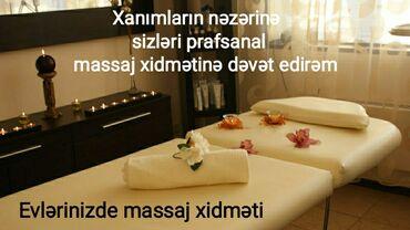 Salam əziz,dəyərli və gözəl xanımlarımız sizləri evinizdə massaj
