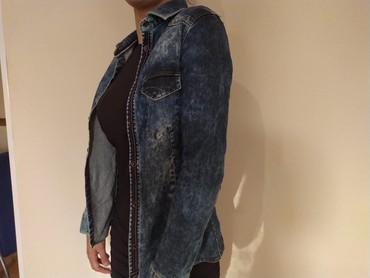 Teksas jakna zenska - Srbija: Zenska teksas kosulja-jakna Exact jeans Velicina M, ali odgovara S