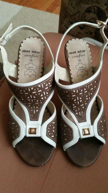 Ženska obuća | Pirot: Mat Star kozne sandale, broj 38 .Vrlo malo nosene .Veoma du udobne