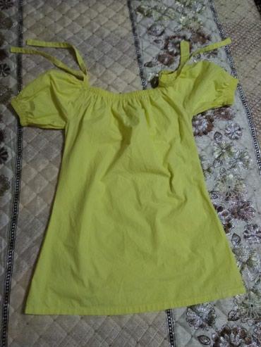 туника желтая в Кыргызстан: Новая крестьянка,постиранная только и без этикетки. размер 42-44