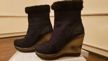 choboti 37 в Кыргызстан: Зимние ботинки. Натуральная замша. 37 размер. Носила 2 раза только! Со