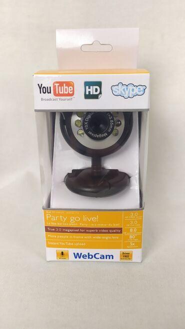 веб камера с микрофоном цена в Кыргызстан: Вэб-камера для компьютера с отличной матрицей камеры и с подсветкой!