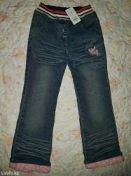 Новые утепленные джинсы на девочку. Размер 134-140см(9-10лет) в Бишкек