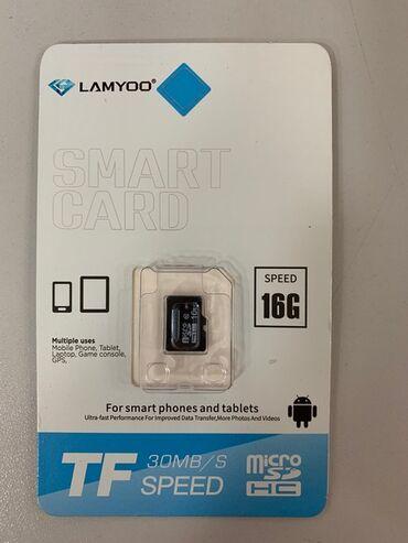 карты памяти sd для телефонов в Кыргызстан: Карта памяти мобильного телефона.Micro SD HC класс 10 LAMYOO, 16 GB
