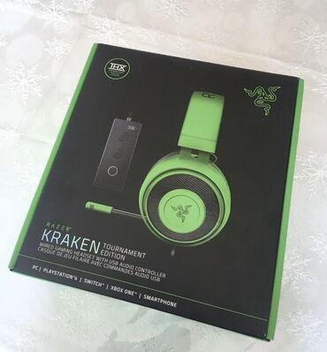 Razer Kraken TE green təcili satılır.Qulaqlıq əla