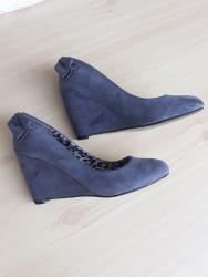Cm obim tamno sive - Srbija: Sive, nove cipele, spojena peta, visina pete 7 cm, imaju mašnicu