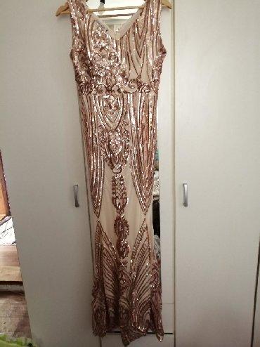 Haljina-xxlramena-pol-obim-grudi-duzina-puna-elastina - Srbija: Jedanput nošenja haljina puna elastina br 38 svečana haljina uz