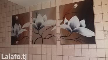 Нарисована маслеными красками под заказ состоит из 3 честей в Душанбе