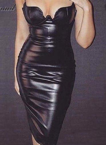 Haljine | Kragujevac: Crna kozna haljina. Nosena jednom na maturu. M velicina,moze i L
