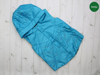 Детская жилетка с контрастной подкладкой и капюшоном    Длина: 50 см П