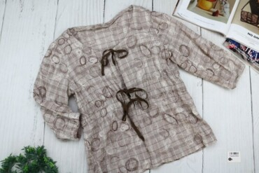 Товар: Блуза женская, серо-коричневая, 8502.     Состояние: Хорошее