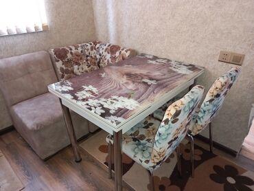 Az işlenib hec bir cizigi lekesi yoxdu 4stulu var stol ustu susedendi
