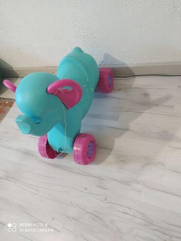 Детский мир - Аламедин (ГЭС-2): Продаю машину каталку слон от1-5л в хорошем состоянии,только глазки