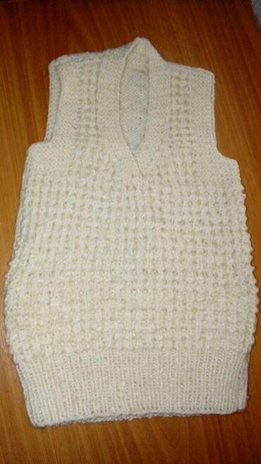 Женская одежда - Маловодное: Детская безрукавка без пуговиц. Узор-кукурузка