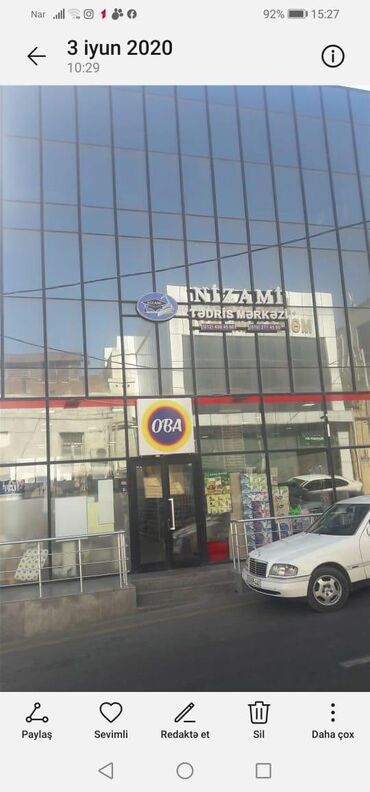 Mağazaların satışı - Azərbaycan: Sabuncu rayonu Merkezixestexana ile uzbeuz yol qiragi 3 mertebeli 1