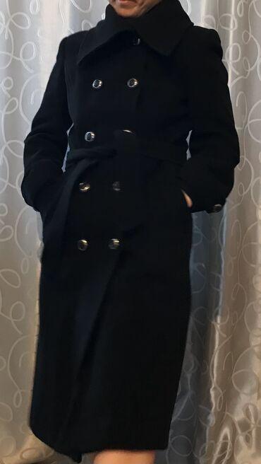 Чёрный Кашемир, очень тёплое зимнее пальто, пальто в отличном