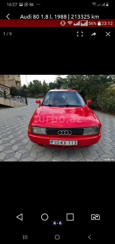 audi 100 18 мт - Azərbaycan: Audi 80 1991 | 265489 km